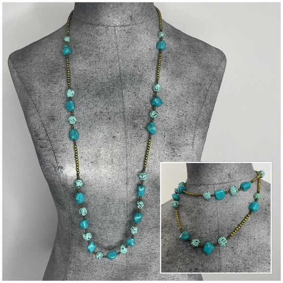Chico's signed necklace jewelry turquoise colored